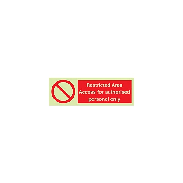 Photoluminescent Restricted Area Access For…Sign