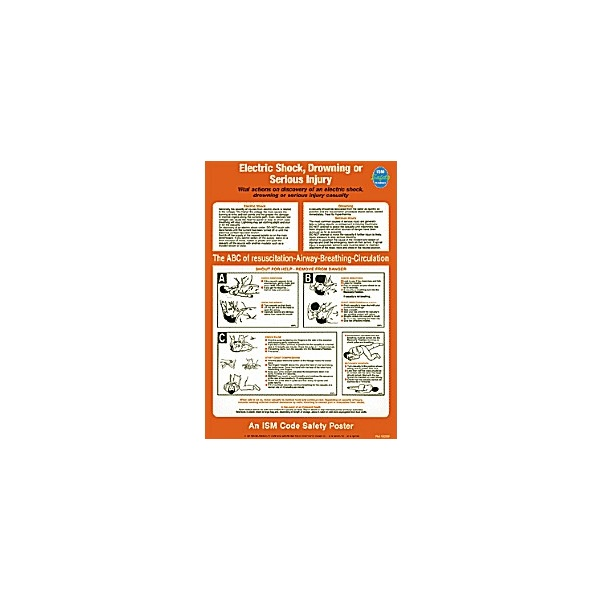 Electric Shock, Drowning Or Serious Injury Poster