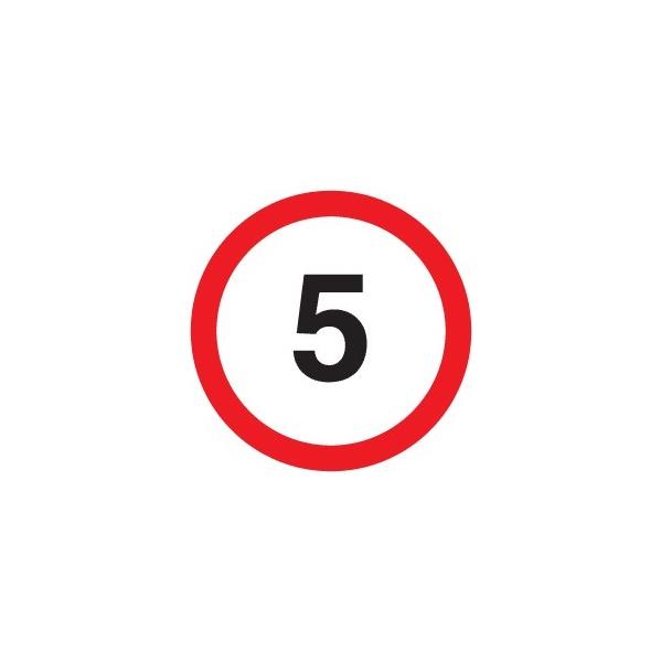 '5' Non Reflective Sign