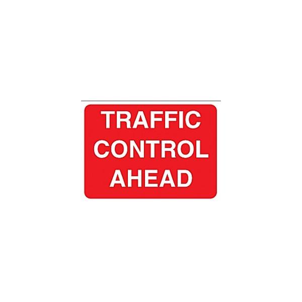 Traffic Control Ahead Sign
