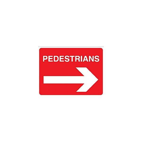 Pedestrians Right Arrow Sign