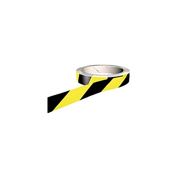 Yellow/Black Adhesive Floor Marking Tapes