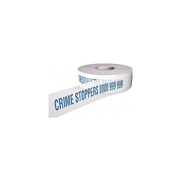 Crime Stoppers 0800 999 999 Security Tape