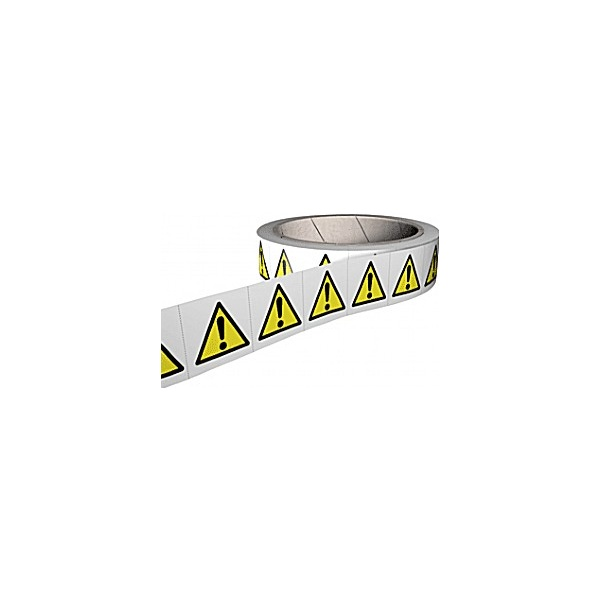 General Warning Hazard Labels - Roll of 250