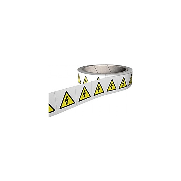 Risk Of Electrocution & High Voltage Hazard Labels – Roll of 250