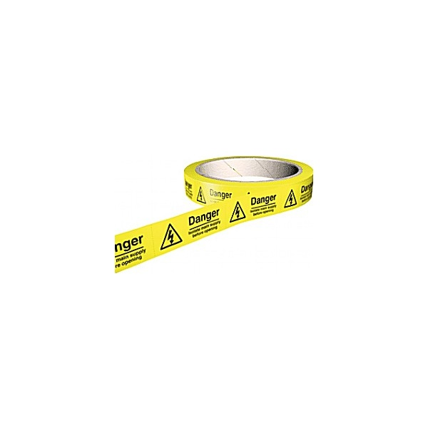 Danger Isolate Main Supply Before Opening Hazard Labels