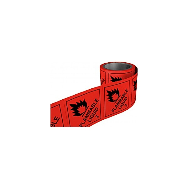 Flammable Liquid Hazchem Labels On A Roll
