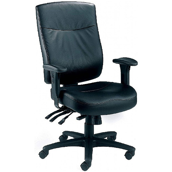 Marathon 24 Hour Leather Faced Manager Chair