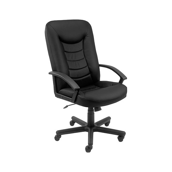 Castor Leather Faced Manager Chair