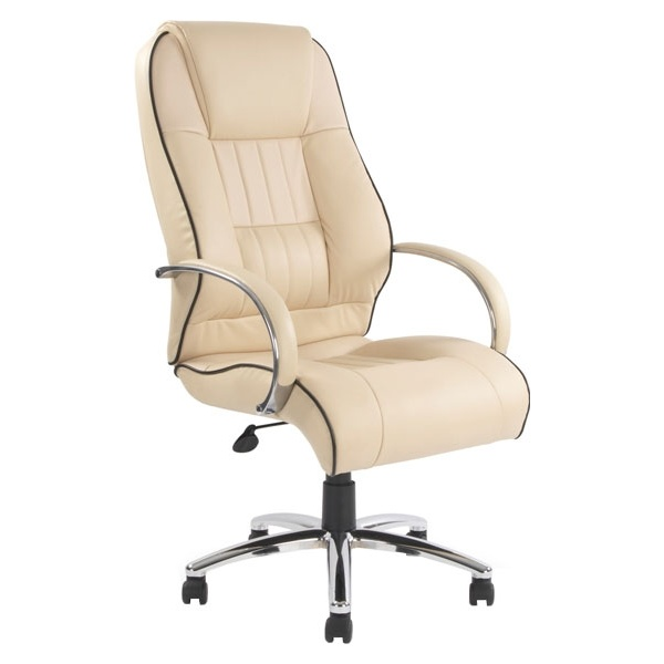 Toulouse Cream Leather Faced  Manager Chair