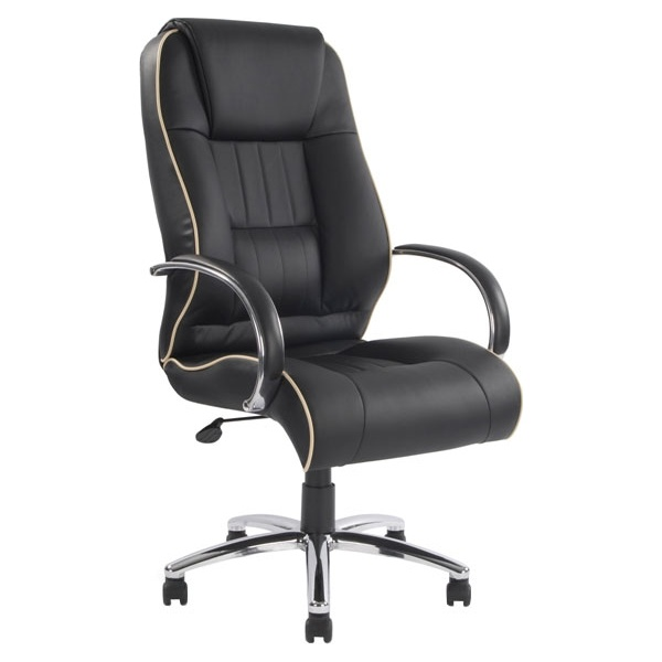 Toulouse Black Leather Faced Manager Chair