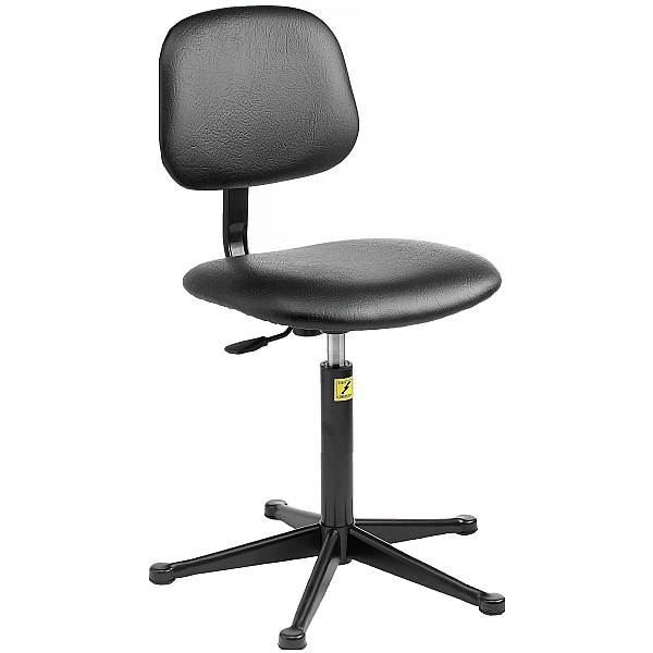 Static Dissipative Vinyl Chair With Glides