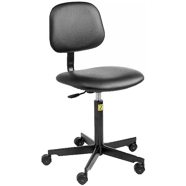 Static Dissipative Vinyl Chair With Castors