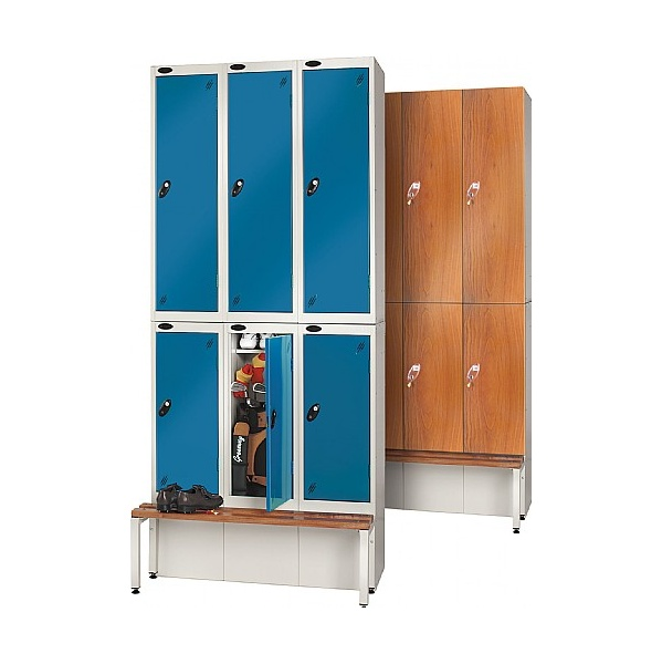 Wooden Door Golf Lockers With Active Coat