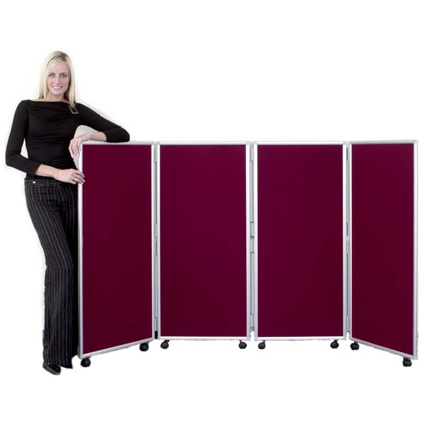 Concertina 4 Panel Mobile Display & Room Dividers