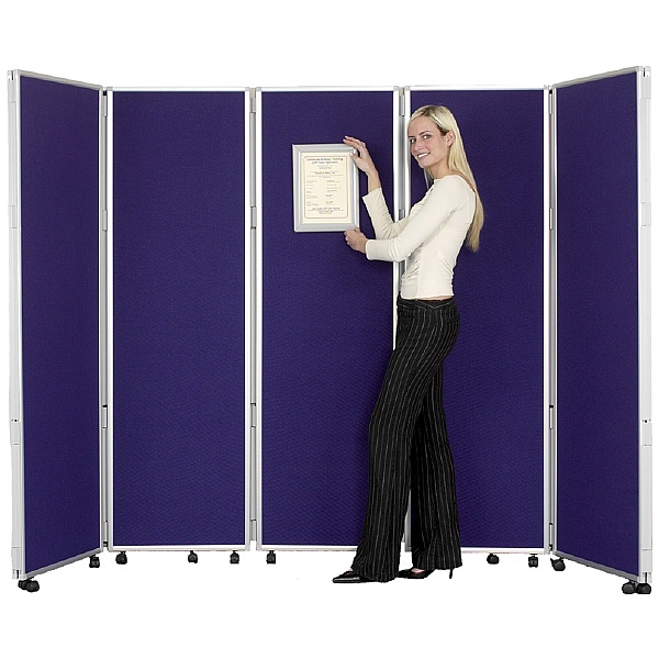 Concertina 5 Panel Mobile Display & Room Dividers