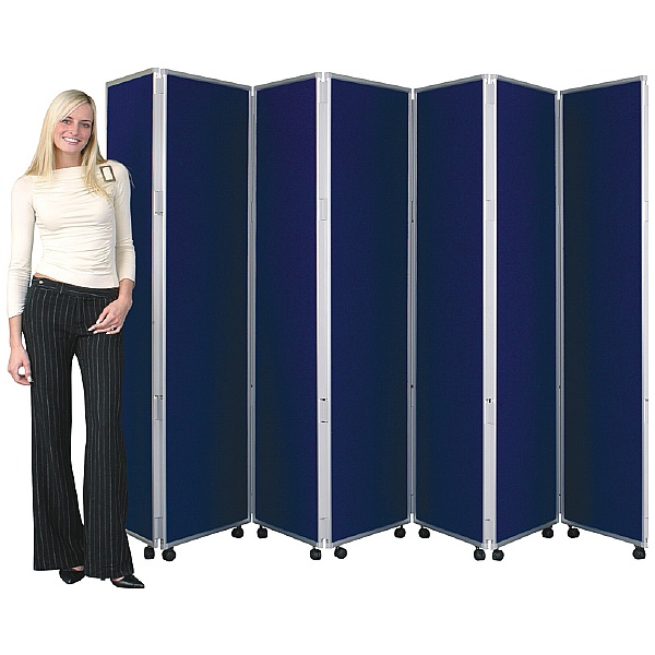 Concertina 7 Panel Mobile Display & Room Dividers