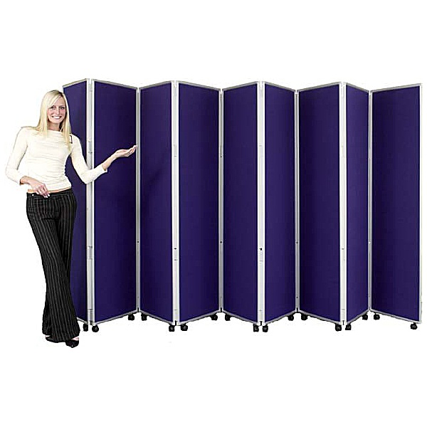 Concertina 9 Panel Mobile Display & Room Dividers
