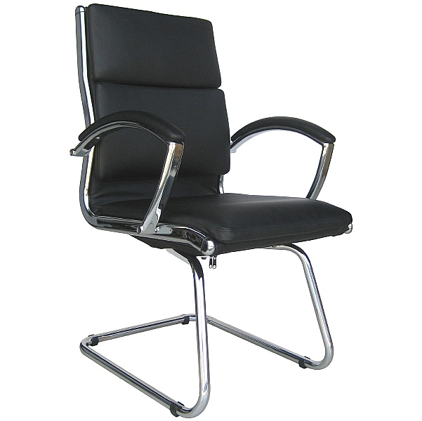 Formosa Enviro Leather Cantilever Chair Black
