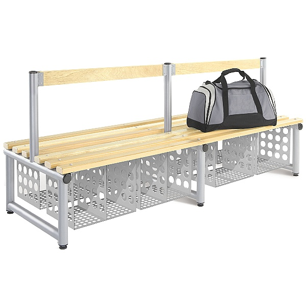 Cloakroom Bench Baskets