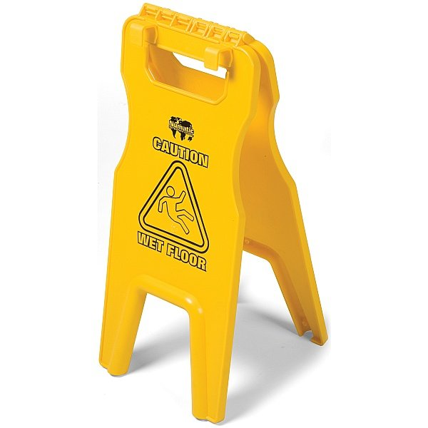 Numatic Wet Floor Sign With Tray Fix Hooks 629044