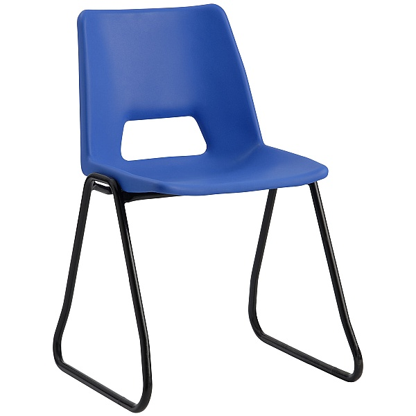 Scholar Polypropylene Skid Base Chairs