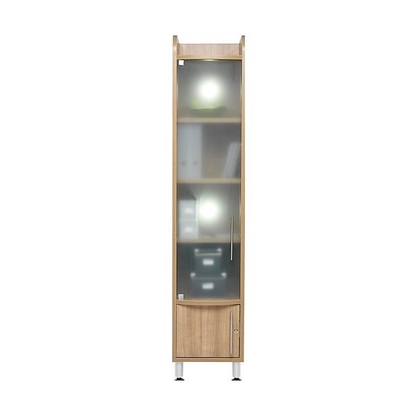 Trilogy Tall Narrow Glass Cupboard