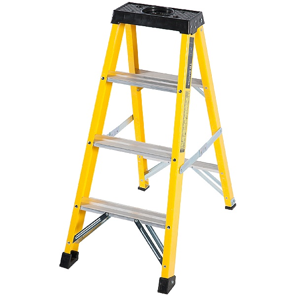 Trade Fibreglass Swingback Step Ladders