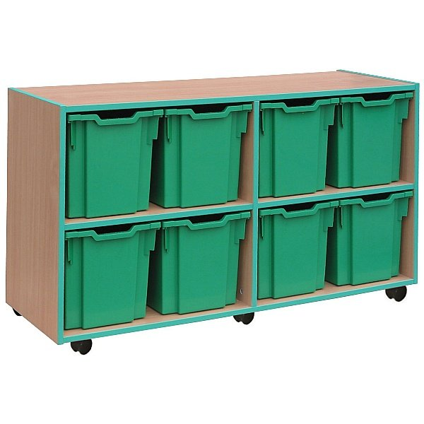 Coloured Edge 8 Tray Jumbo Storage Unit