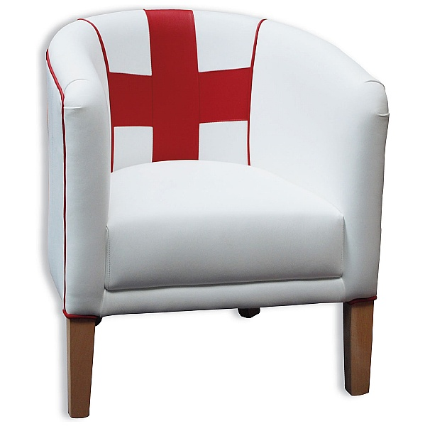 England Leather Tub Chair