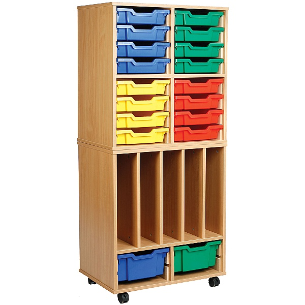 Storage Allsorts Big Book 4 Shallow Tray Unit