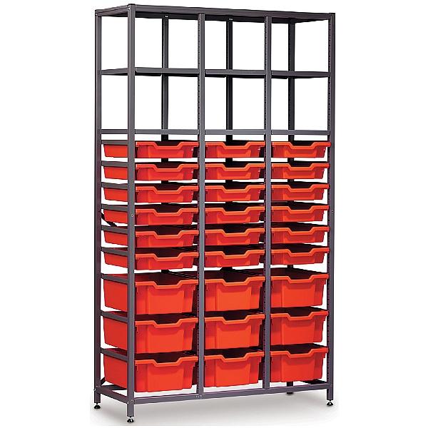 Gratnells 3 Column High 27 Tray Storage Rack