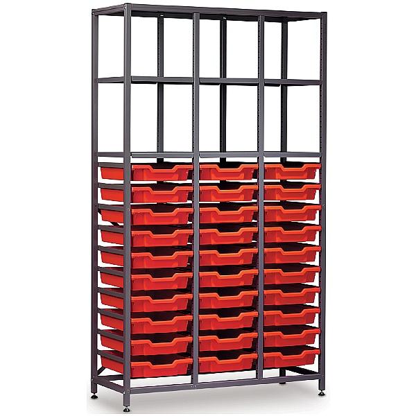 Gratnells 3 Column High 30 Tray Storage Rack