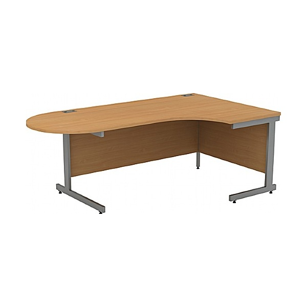 Alpha Plus Executive Radial D-End Desk