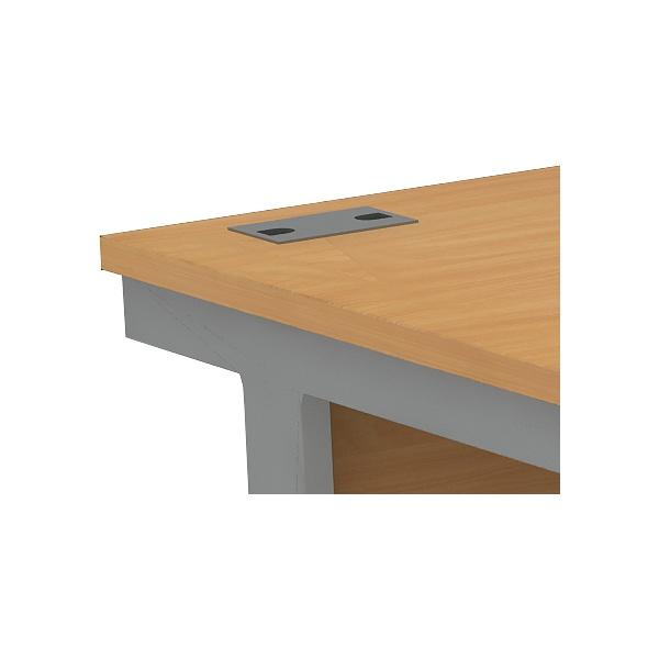 Alpha Plus Panel End Bow Front Rectangular Desk