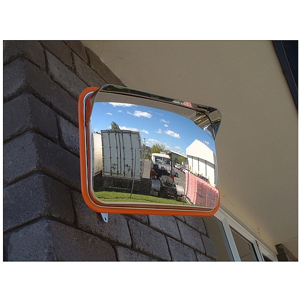 Anti Vandal Stainless Steel Rectangular Mirrors