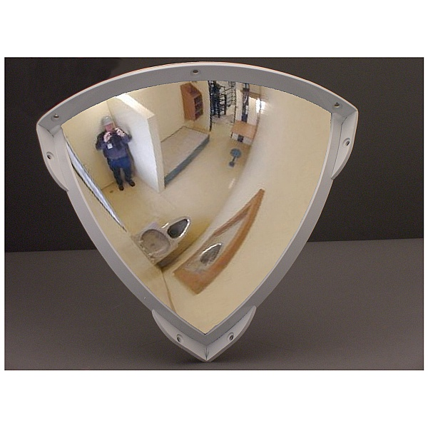 Stainless Steel Anti Ligature Quarter Face Mirror