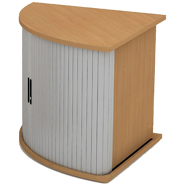 Alpha Plus Corner Tambour Storage Unit