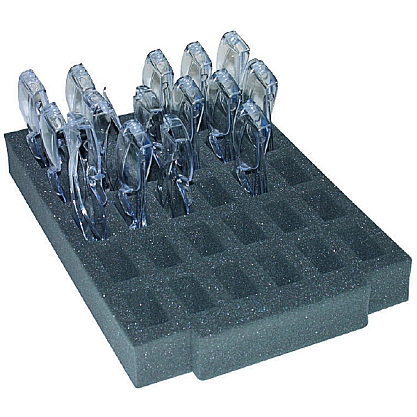 Gratnells Foam Tray Insert 30 Lab Glasses