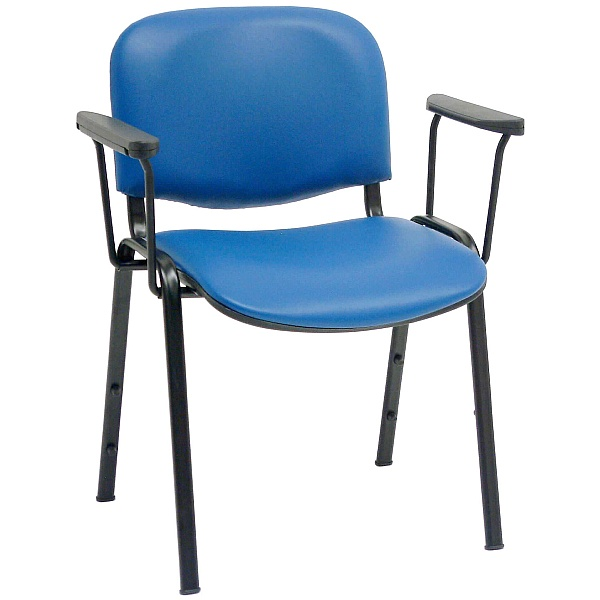 ISO Lexaire Vinyl Conference Armchairs Black Frame