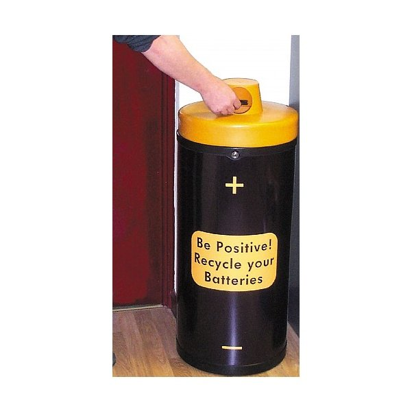 Battery Recycling Bin 'Be Positive'