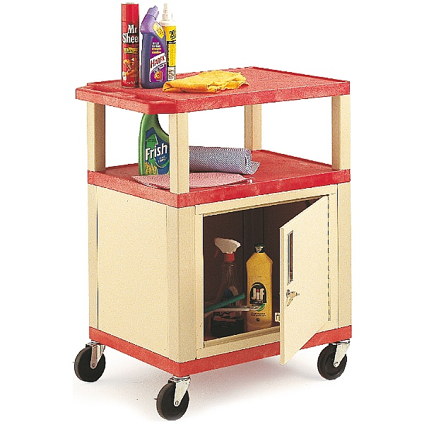 3 Shelf Trolley With Cabinet