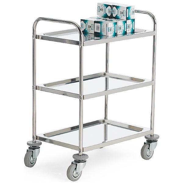 3 Shelf Stainless Steel Trolley