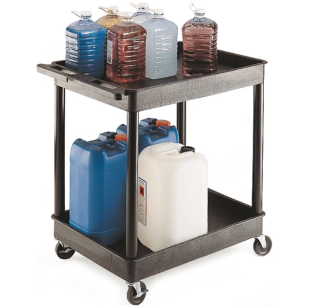 2 Shelf Super Strong Service Trolley