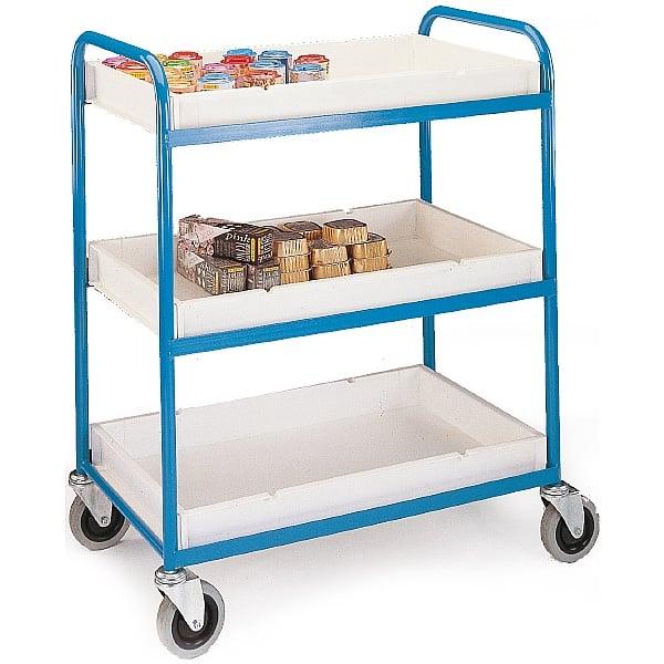 3 Shelf Plastic Tray Trolley