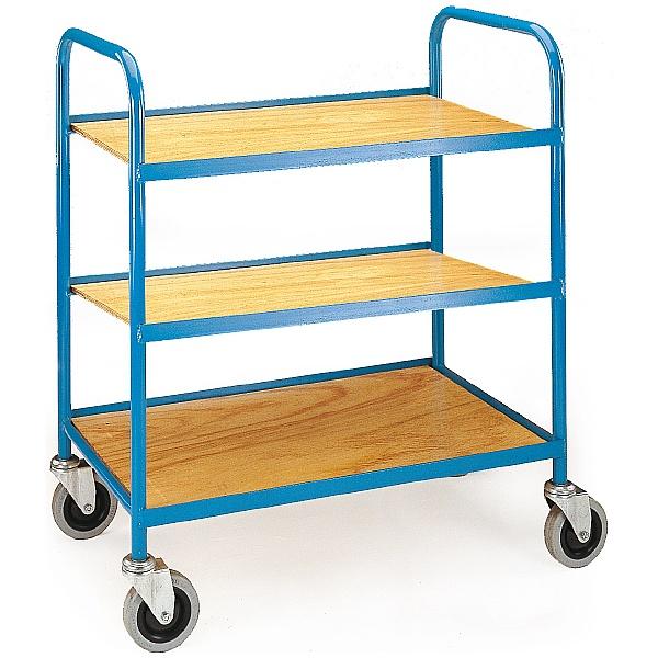 3 Shelf Plywood Tray Trolley