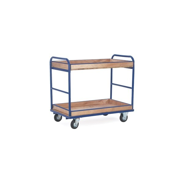 Lipped 2 Shelf Industrial Trolley