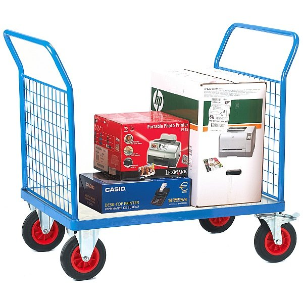Fort Galvanised Deck Platform Truck with Double Mesh End