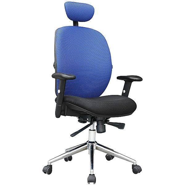Pacific Mesh High Back Chair Blue