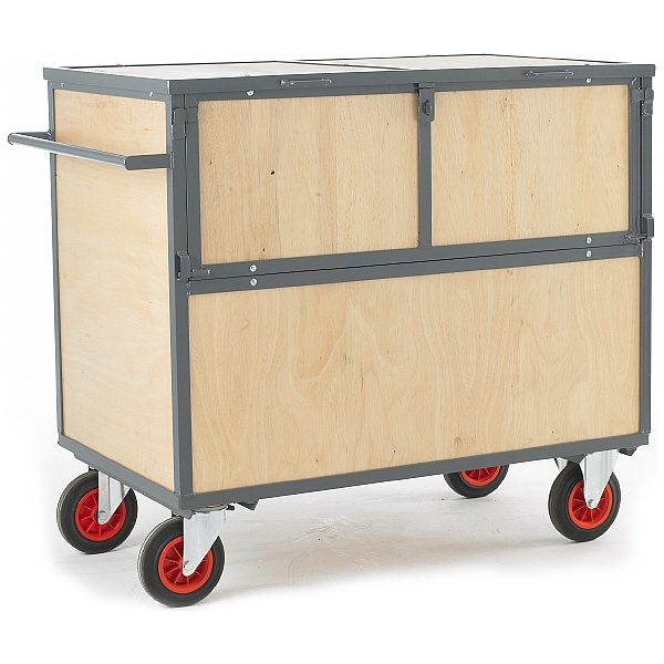 Wooden Security Box Trolley
